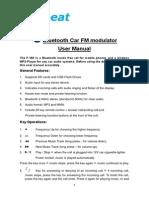 FM-190AB Manual Bluetooth FM Modulator