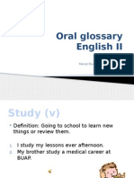 Oral Glossary