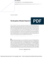 The Reception of Reader-Response Theory