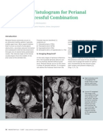 MRI With MR Fistulogram for Perianal Fistula - A Successful Combination