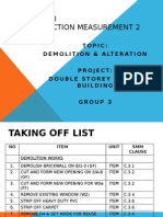 Demolition presentation