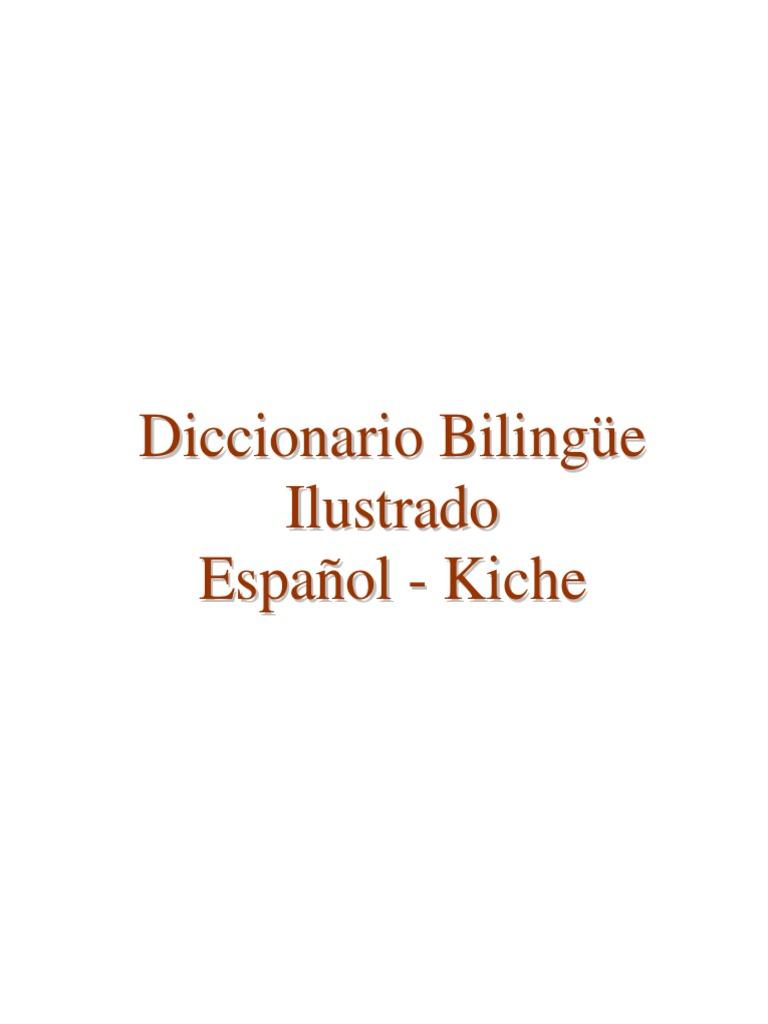 Diccionario Bilingüe Ilustrado Kaxlan K Iche  009b8741887