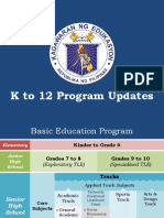 K to 12 Program Updates_March 9, 2015-Usec. Ocampo