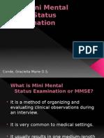 Mini Mental Status Report