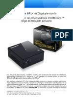 La gama BRIX de Gigabyte con la 5TA generación de procesadores Intel core