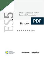 diseño curricular para la educacion secundaria 5 año historia.pdf