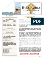 church bulletin for  5-24-2015