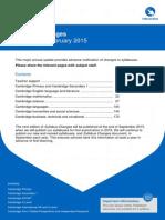 205207 Syllabus Changes 2015 International Schools Version 1.0
