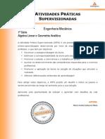 APTS Engenharia de Produção - Automação e Controle - Álgebra Linear Geometria Analítica