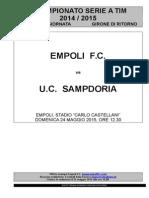 Empoli-Sampdoria - 37° giornata serie A