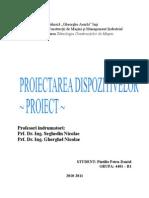 proiect proiectarea dispozitivelor tcm