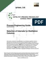 Selection of Internals for Distillation Columns