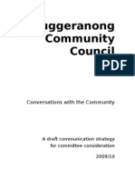 Communication - A Strategy for the TCC