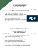 Mid Sem Question Paper EC 8 sem