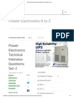 Power Electronics Interview Questions