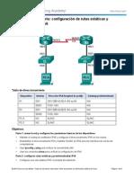 6.2.4.5 Configuración de Rutas Estáticas y Predeterminadas IPv6 F