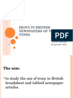 Presentation - Irony in British newspapers of various types