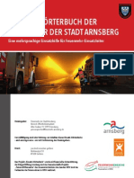 Einsatz Woerterbuch der Feuerwehr