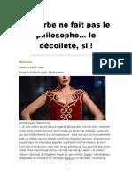 Barbe Ne Fait Pas Le Philosophe Mais Décolletéas...