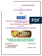 Dissertation Report on Performance Appraisal - Bhel