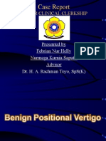 Presentation Case Report Vertigo - Present