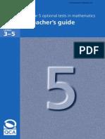 Year 5 2006 Optional SATS Maths - Teacher Guide