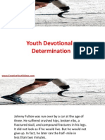 Youth Devotional - Determination