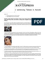 26 Reasons for Sentencing Talwars in Aarushi Case