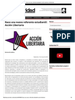 Nace Una Nuevo Referente Estudiantil_ Acción Libertaria _ Solidaridad