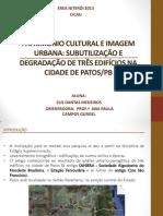 Patrimônio Cultural e Imagem Urbana