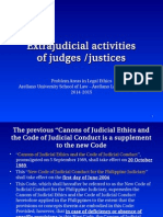 3. Extra Judicial Activities of Judges