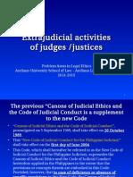 3. Extra Judicial Activities of Judges