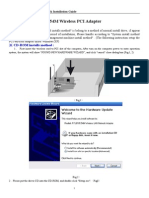 Wireless PCI Adapter RTL Manual