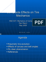 Composite Effects on Tire Mechanics