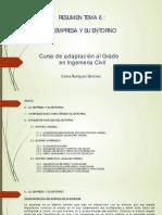 Resumen Tema 6 - La Empresa y Su Entorno