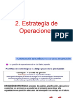 2- Estrategia de Operaciones
