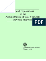 General Explanations of the Administration's Fiscal Year 2011