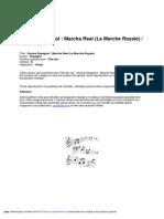 Hymne Espagnol Marcha Real La Marche Royale Flute a Bec v0