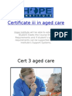 Certificate 3 aged care