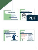 Cover Letter- Sample