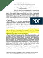 (D) Derivatives as the World Financial Crisis Factor