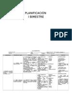 Planificación Primero Grado de Primaria