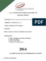 Clasificacion de Las Empresas Adm General