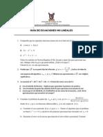 Guía 2- Ecuaciones No Linales
