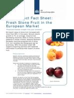 Product Factsheet Stonefruit Europe Fresh Fruit Vegetables 2014