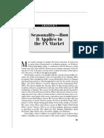 FX Market Seasonality