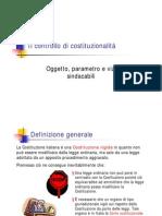 Controllo di costituzionalità, oggetto, parametro, vizi