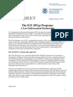 ICE Fact Sheet - 287(g) (1/21/10)