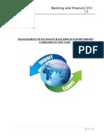 Management of exchange rate risk