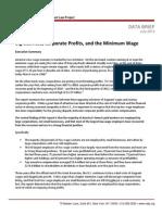 Big Business, Corporate Profits, and the Minimum Wage